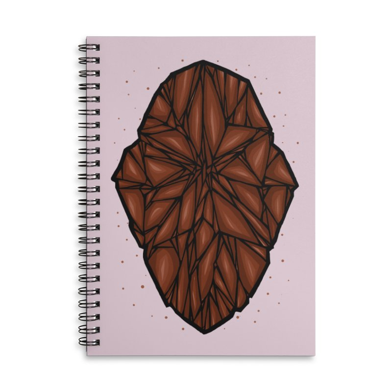 Brown diamond Accessories Lined Spiral Notebook by barmalisiRTB
