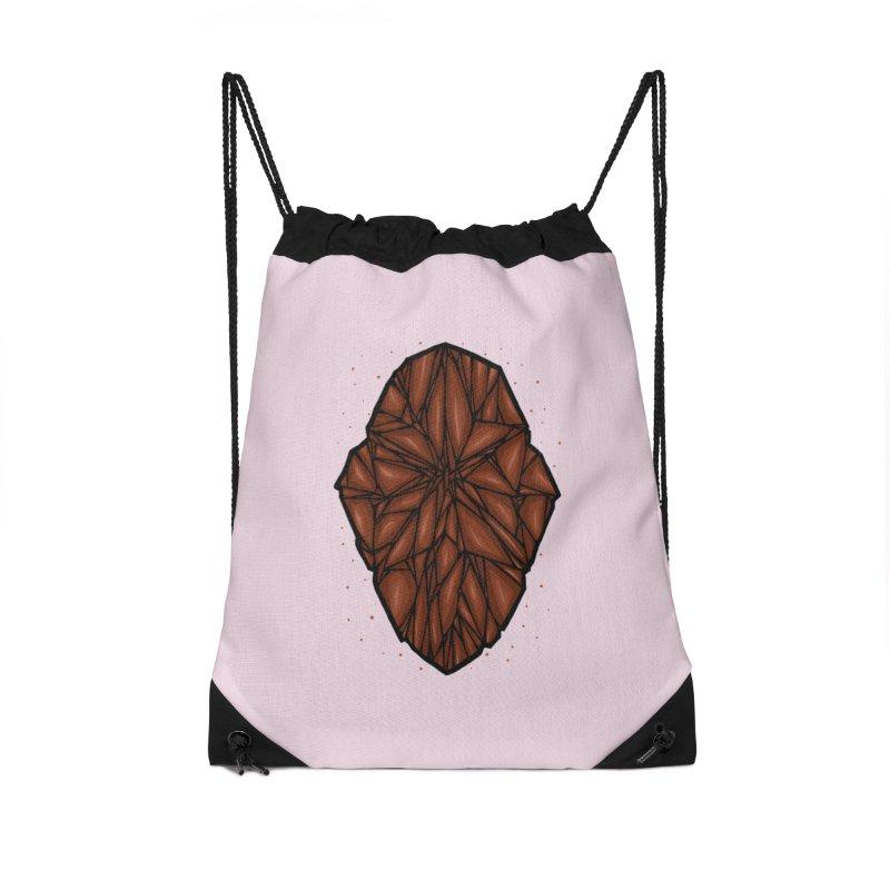 Brown diamond Accessories Drawstring Bag Bag by barmalisiRTB