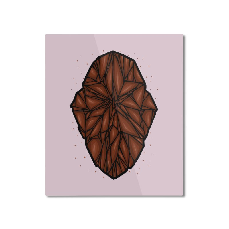 Brown diamond Home Mounted Aluminum Print by barmalisiRTB