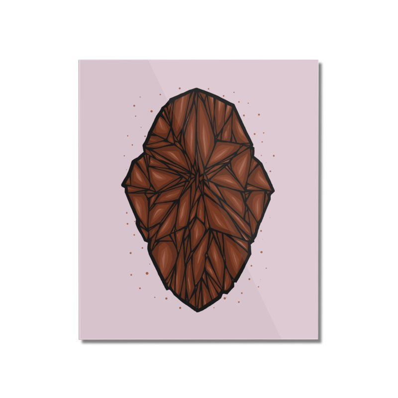 Brown diamond Home Mounted Acrylic Print by barmalisiRTB