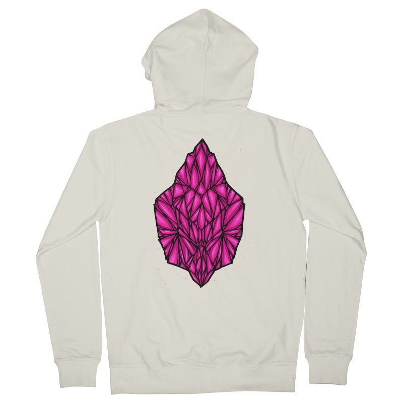 Pink diamond Women's French Terry Zip-Up Hoody by barmalisiRTB