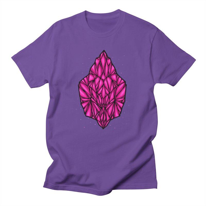 Pink diamond Men's Regular T-Shirt by barmalisiRTB