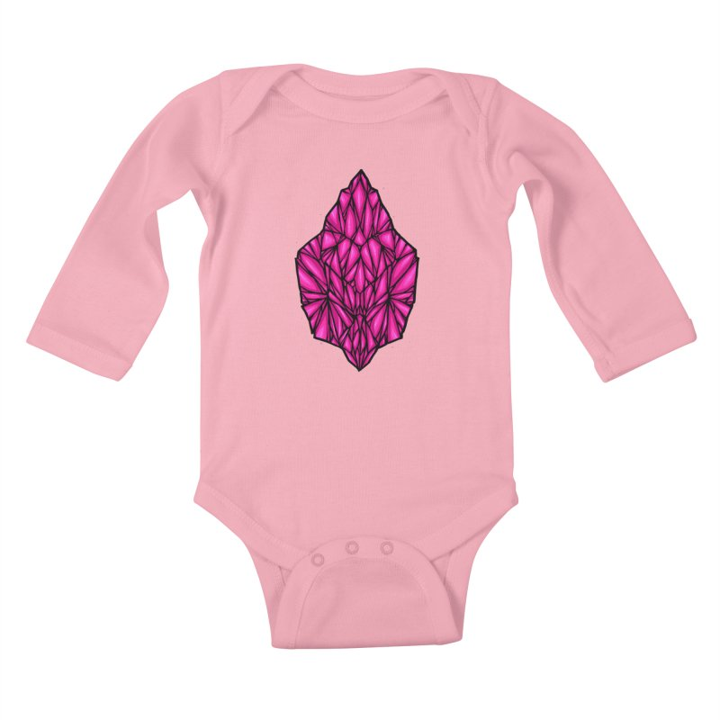 Pink diamond Kids Baby Longsleeve Bodysuit by barmalisiRTB