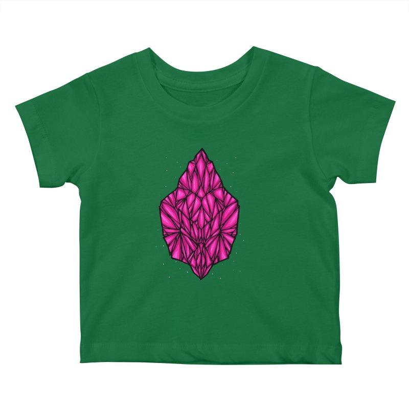 Pink diamond Kids Baby T-Shirt by barmalisiRTB