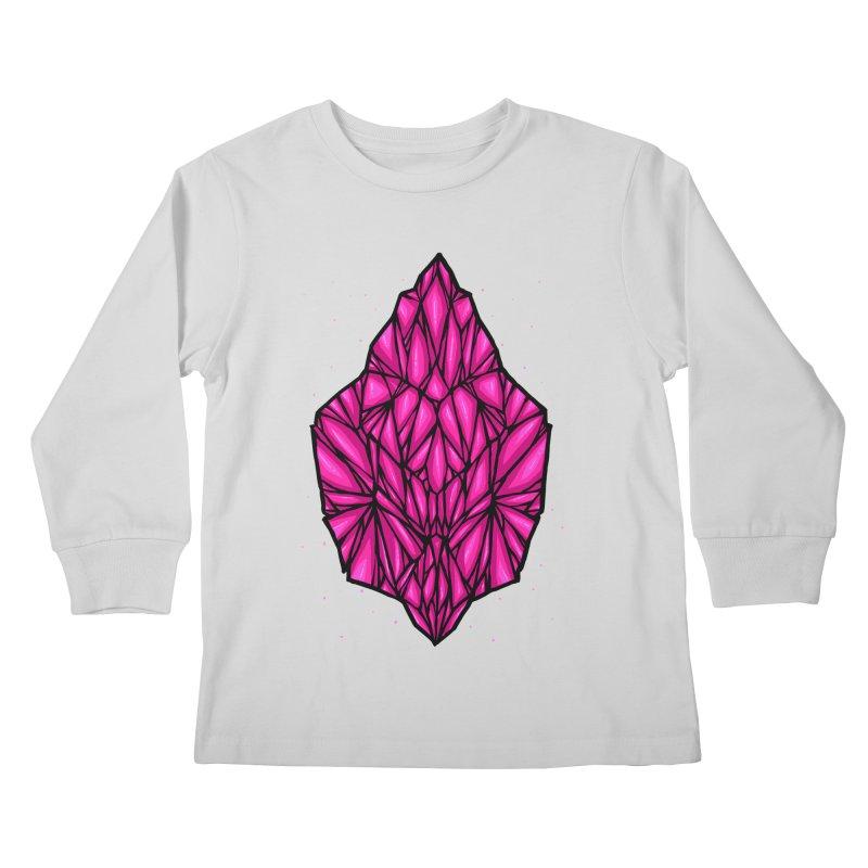 Pink diamond Kids Longsleeve T-Shirt by barmalisiRTB