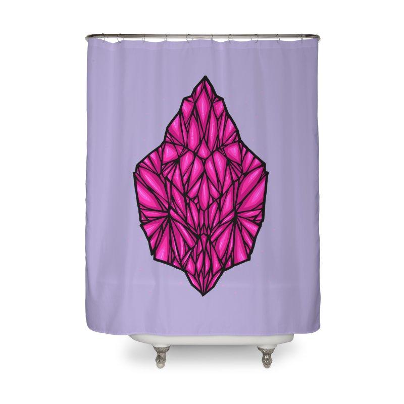 Pink diamond Home Shower Curtain by barmalisiRTB