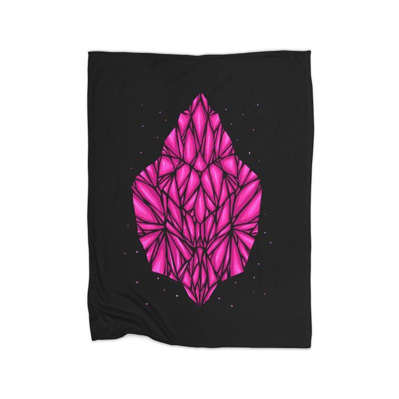 Pink diamond Home Fleece Blanket Blanket by barmalisiRTB