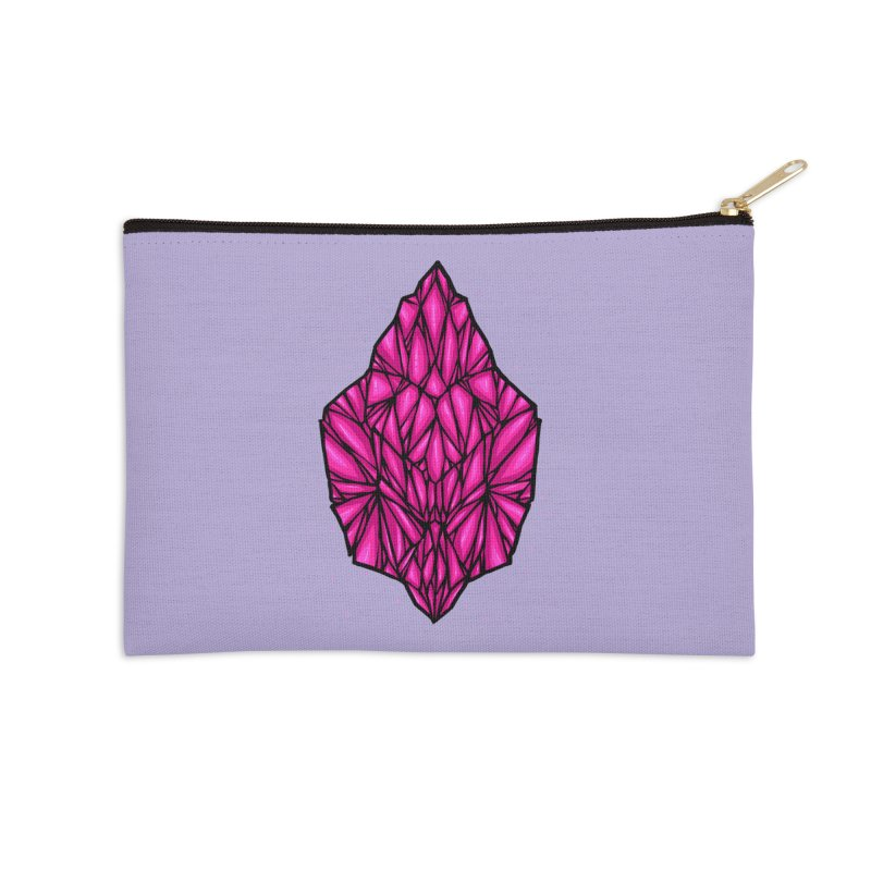 Pink diamond Accessories Zip Pouch by barmalisiRTB