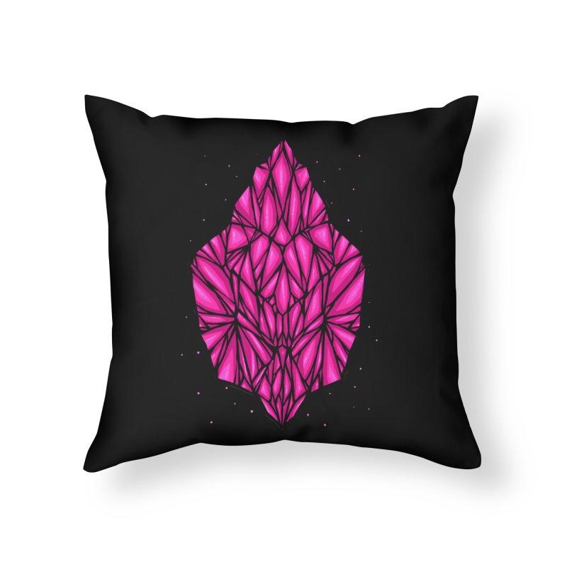 Pink diamond Home Throw Pillow by barmalisiRTB