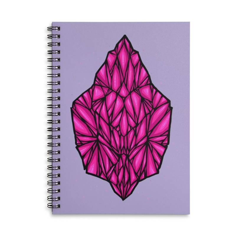 Pink diamond Accessories Lined Spiral Notebook by barmalisiRTB