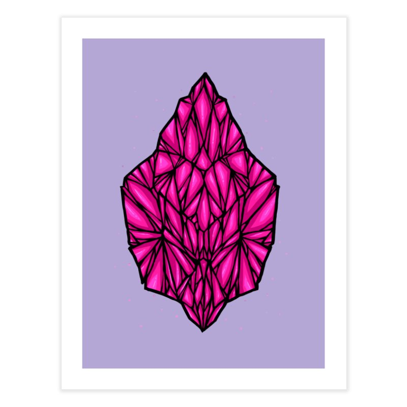 Pink diamond Home Fine Art Print by barmalisiRTB