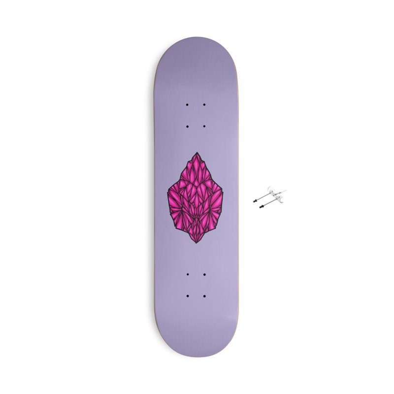 Pink diamond Accessories With Hanging Hardware Skateboard by barmalisiRTB