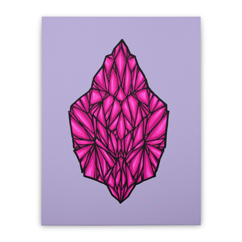 Pink diamond Home Stretched Canvas by barmalisiRTB