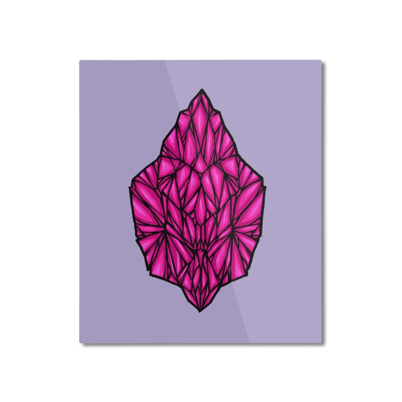 Pink diamond Home Mounted Aluminum Print by barmalisiRTB