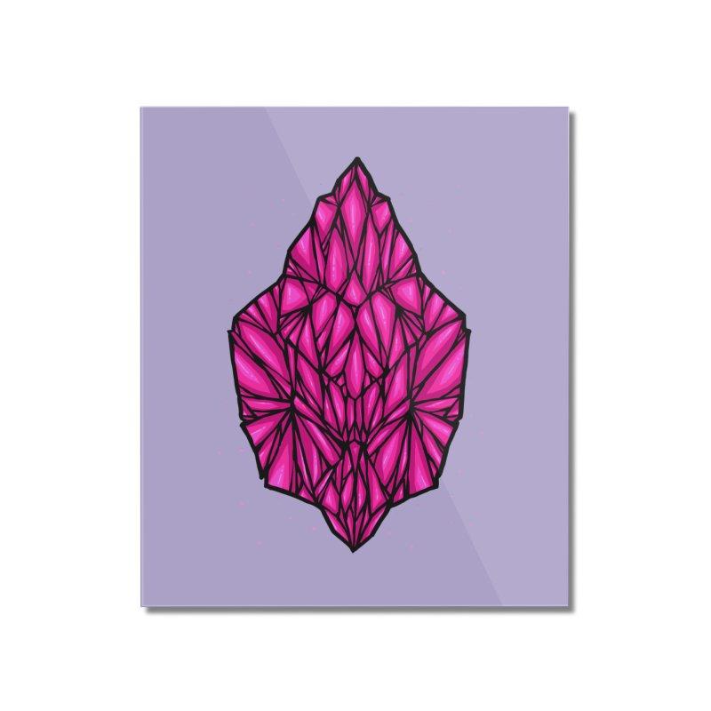 Pink diamond Home Mounted Acrylic Print by barmalisiRTB