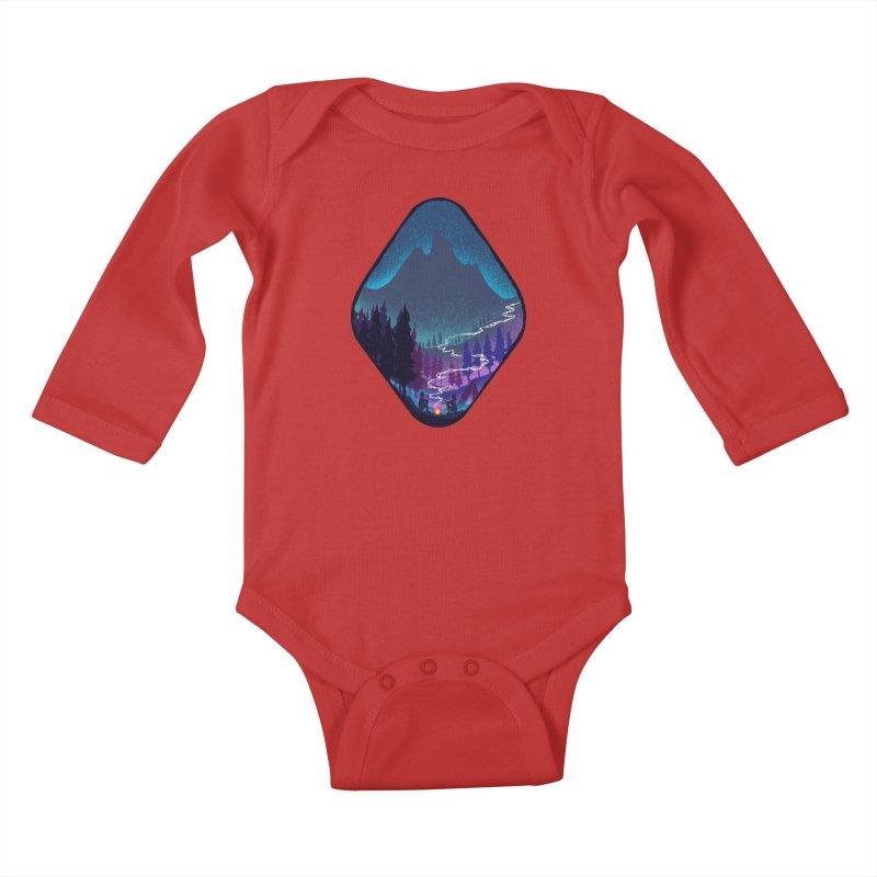Warmth of love Kids Baby Longsleeve Bodysuit by barmalisiRTB