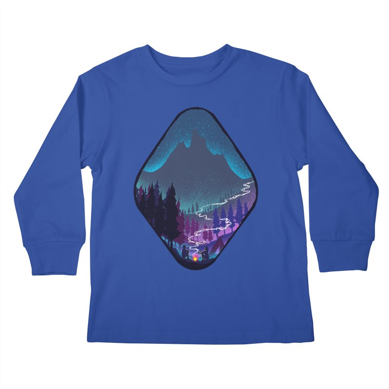 Warmth of love Kids Longsleeve T-Shirt by barmalisiRTB