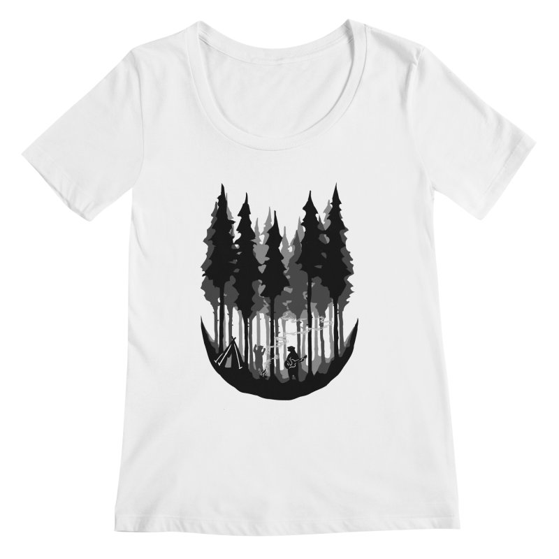 Enjoy camping Women's Regular Scoop Neck by barmalisiRTB
