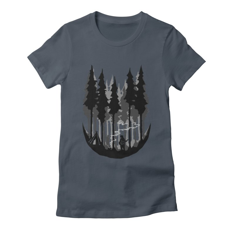 Enjoy camping Women's Fitted T-Shirt by barmalisiRTB