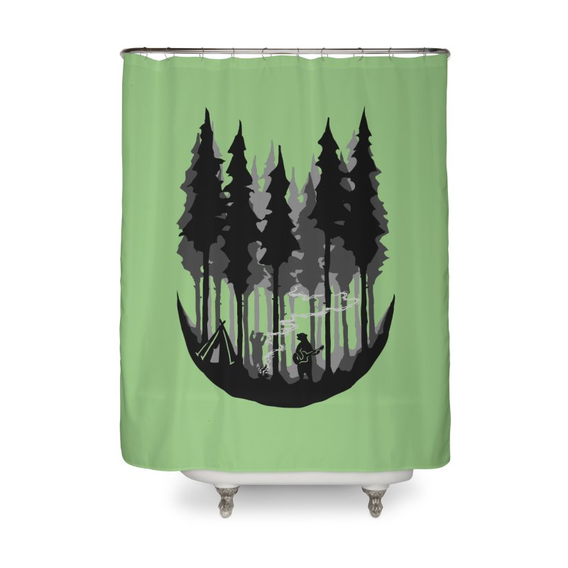Enjoy camping Home Shower Curtain by barmalisiRTB