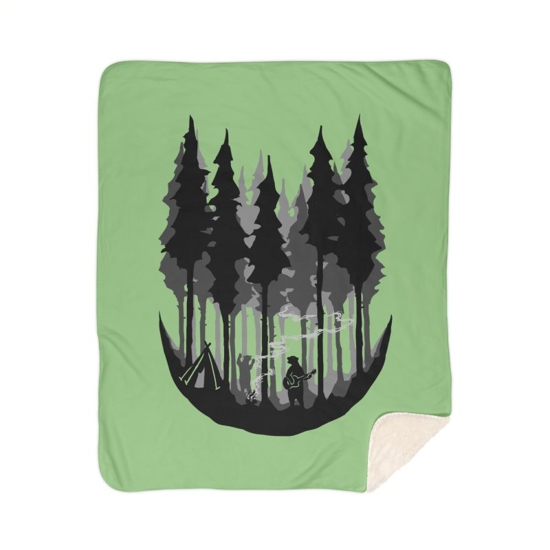 Enjoy camping Home Sherpa Blanket Blanket by barmalisiRTB