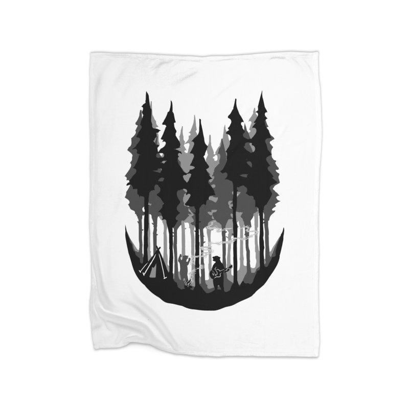 Enjoy camping Home Fleece Blanket Blanket by barmalisiRTB