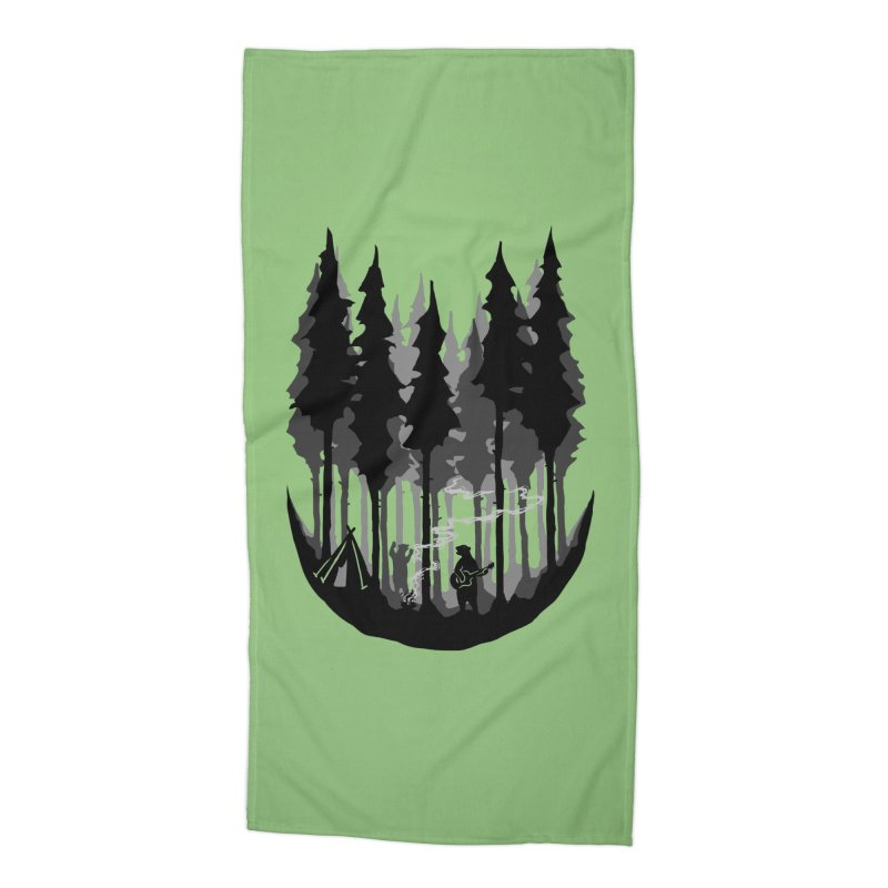 Enjoy camping Accessories Beach Towel by barmalisiRTB