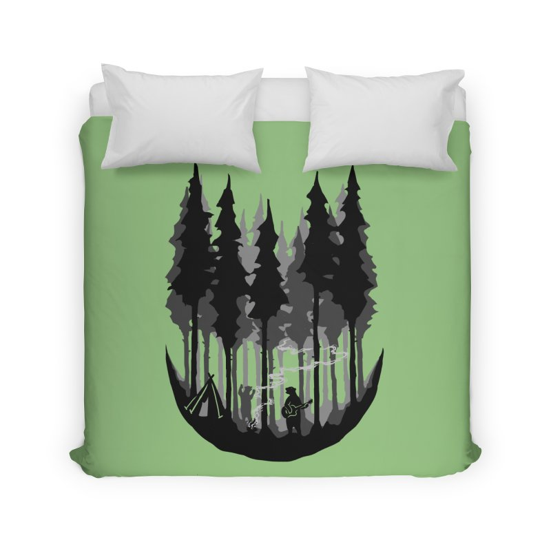 Enjoy camping Home Duvet by barmalisiRTB
