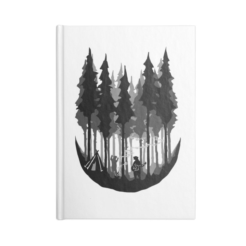 Enjoy camping Accessories Blank Journal Notebook by barmalisiRTB