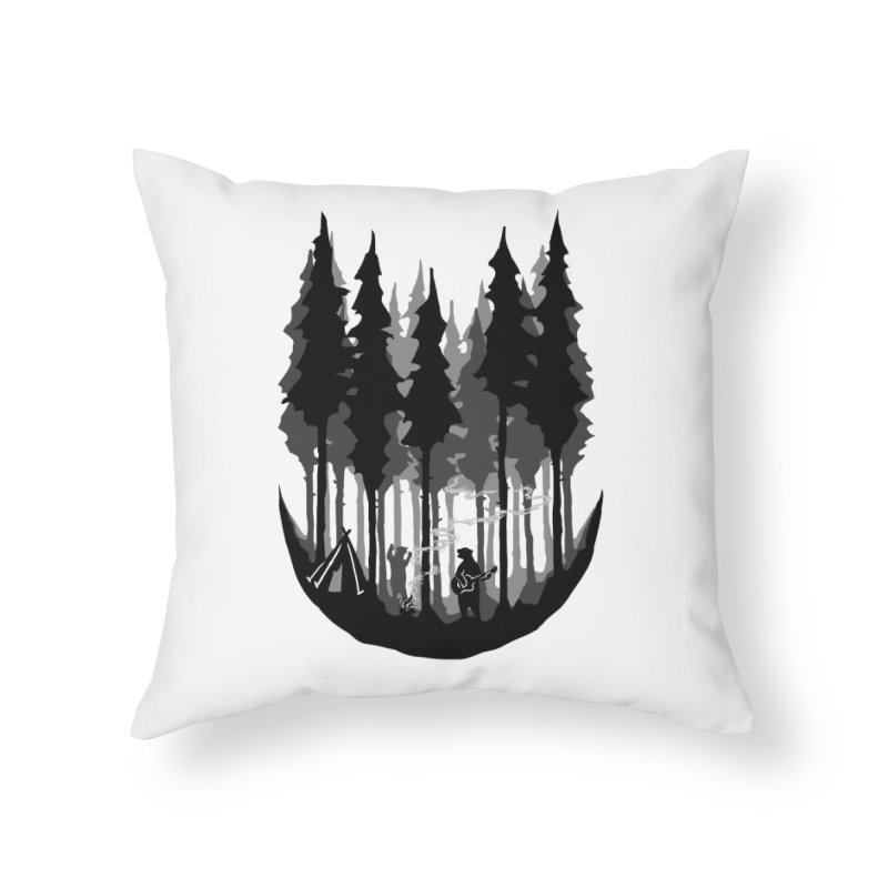 Enjoy camping Home Throw Pillow by barmalisiRTB