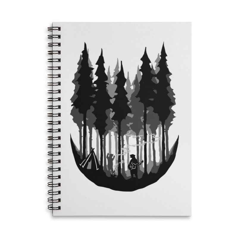 Enjoy camping Accessories Lined Spiral Notebook by barmalisiRTB