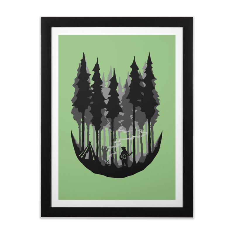 Enjoy camping Home Framed Fine Art Print by barmalisiRTB