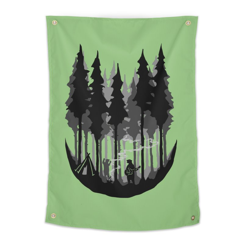 Enjoy camping Home Tapestry by barmalisiRTB