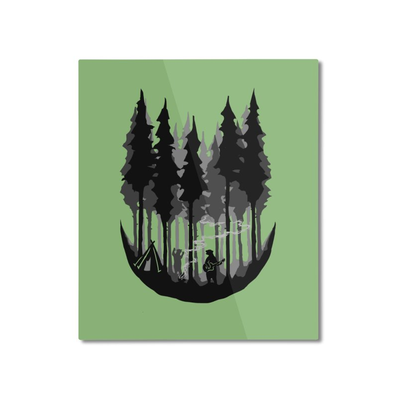 Enjoy camping Home Mounted Aluminum Print by barmalisiRTB
