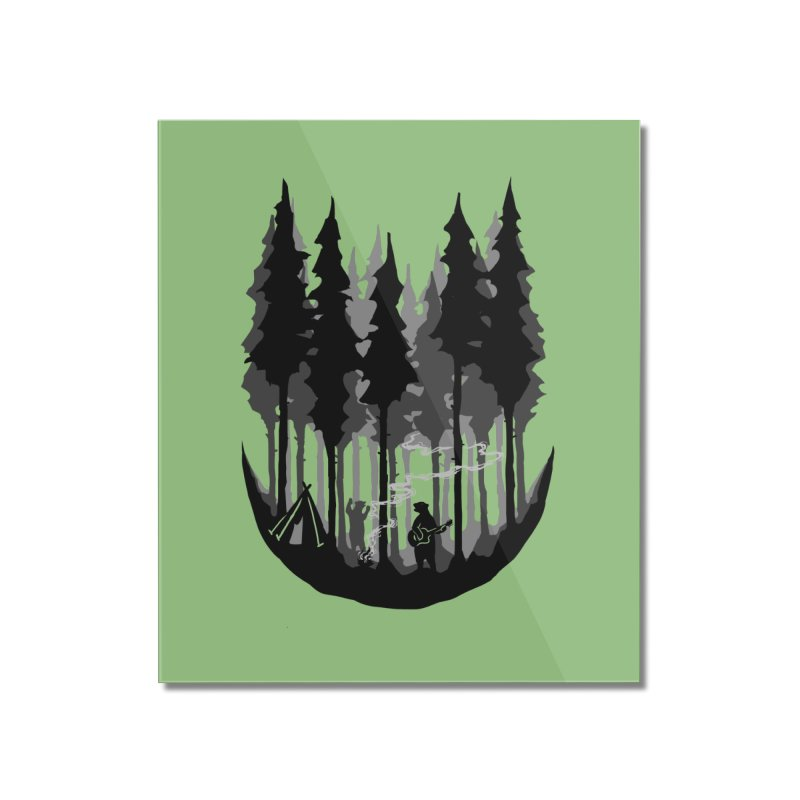 Enjoy camping Home Mounted Acrylic Print by barmalisiRTB