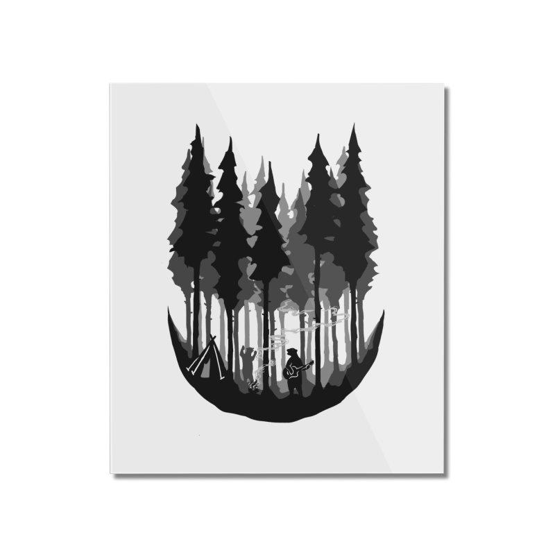 Enjoy camping Home Mounted Acrylic Print by barmalisiRTB