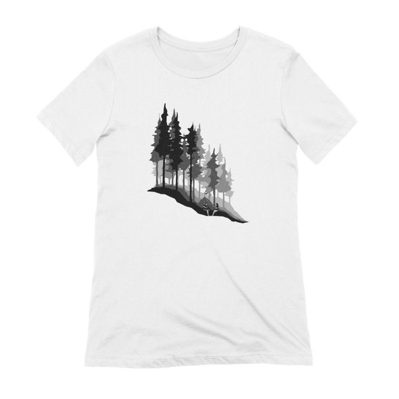 Romantic Camping Women's Extra Soft T-Shirt by barmalisiRTB