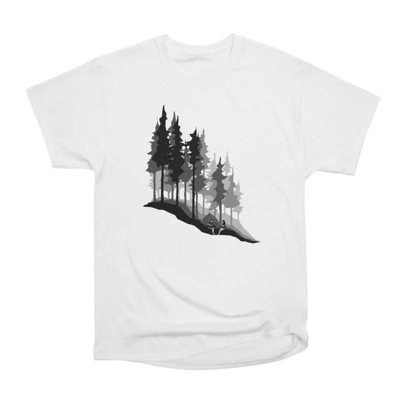 Romantic Camping Men's Heavyweight T-Shirt by barmalisiRTB