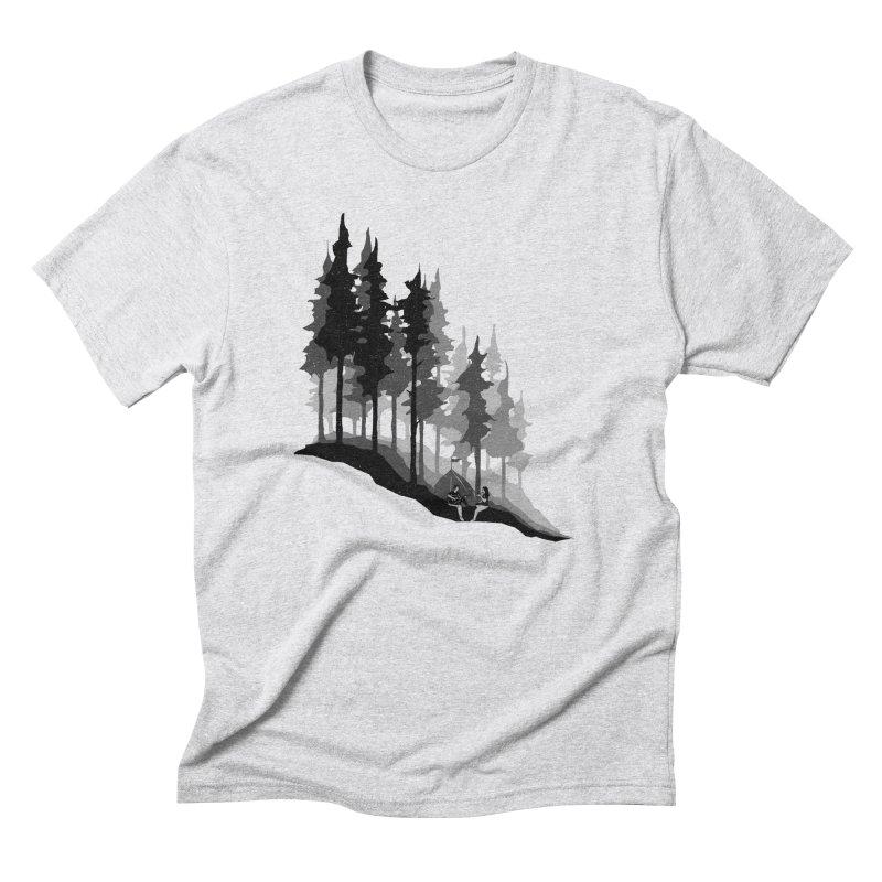 Romantic Camping Men's Triblend T-Shirt by barmalisiRTB