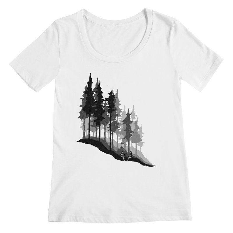 Romantic Camping Women's Regular Scoop Neck by barmalisiRTB