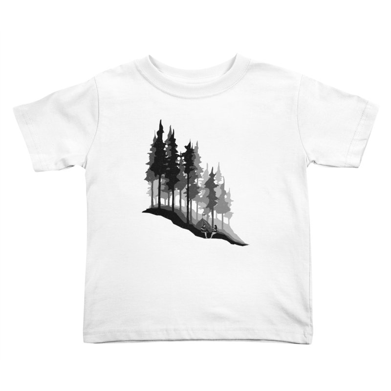 Romantic Camping Kids Toddler T-Shirt by barmalisiRTB