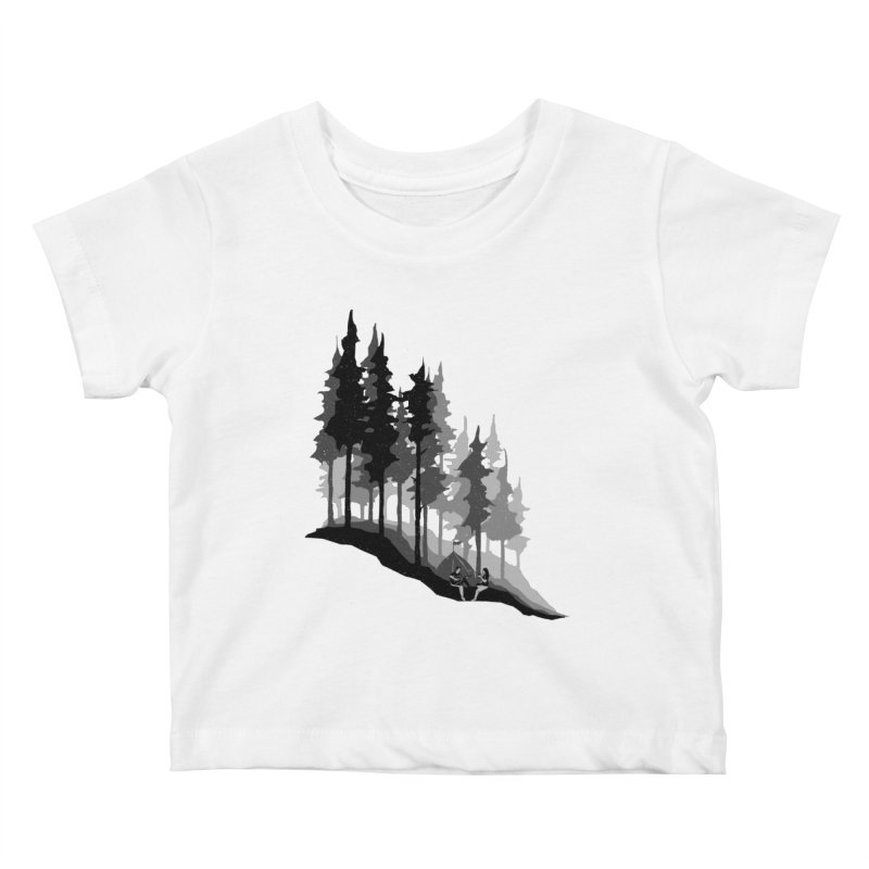 Romantic Camping Kids Baby T-Shirt by barmalisiRTB