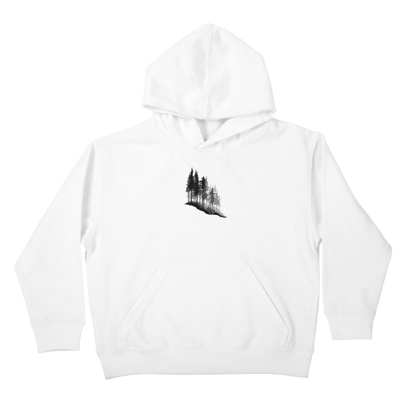 Romantic Camping Kids Pullover Hoody by barmalisiRTB
