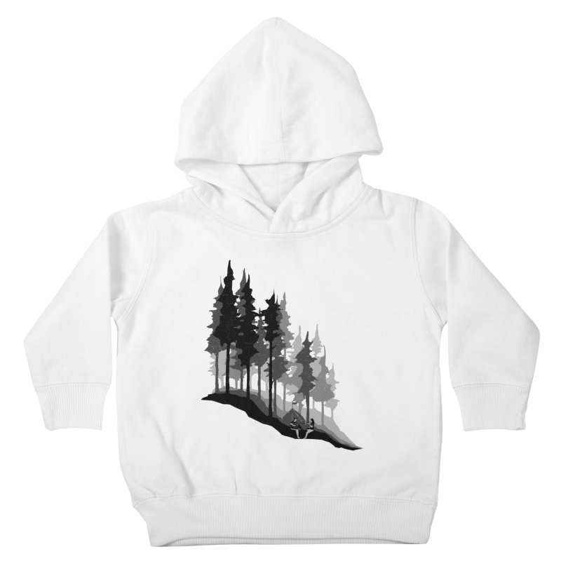 Romantic Camping Kids Toddler Pullover Hoody by barmalisiRTB