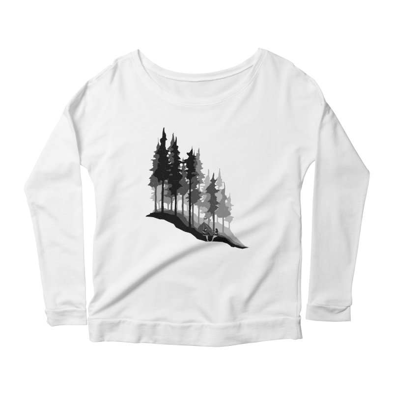 Romantic Camping Women's Scoop Neck Longsleeve T-Shirt by barmalisiRTB