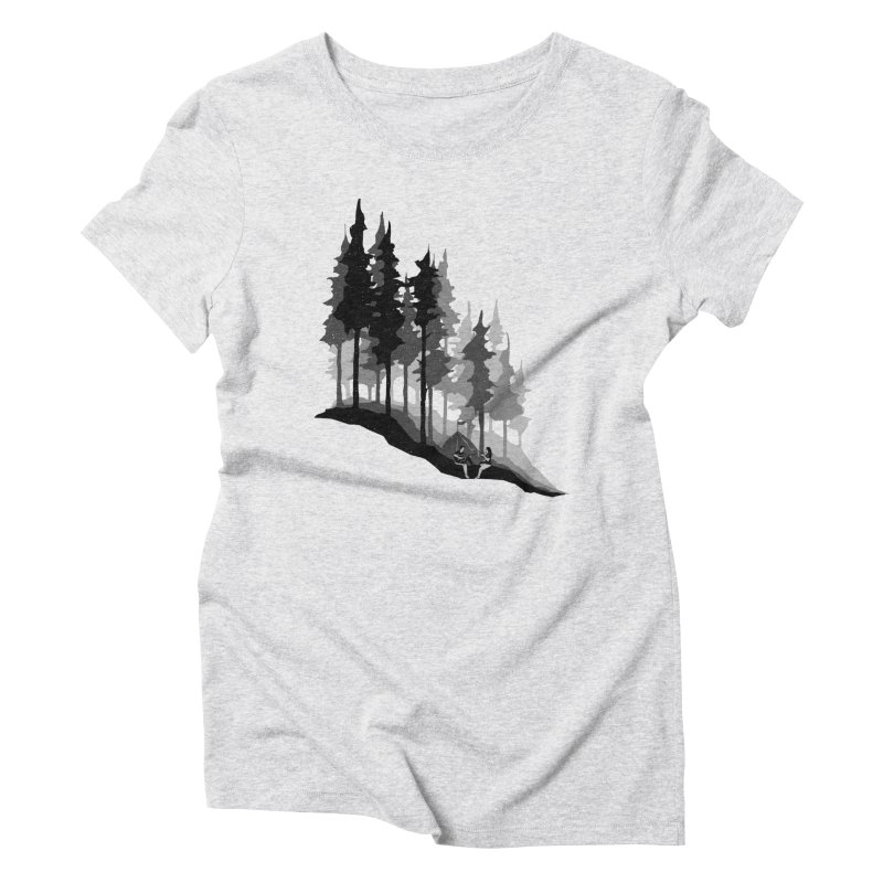 Romantic Camping Women's Triblend T-Shirt by barmalisiRTB
