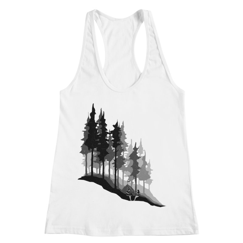 Romantic Camping Women's Racerback Tank by barmalisiRTB