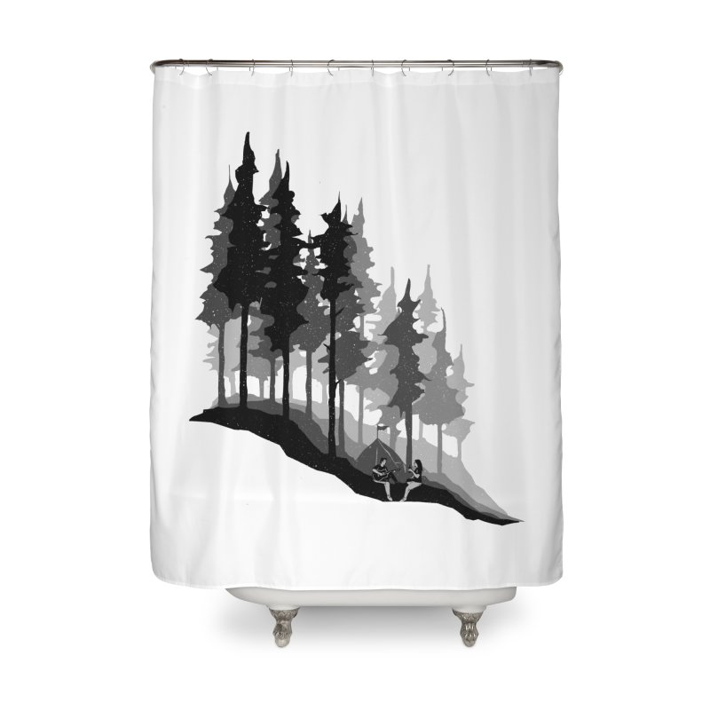 Romantic Camping Home Shower Curtain by barmalisiRTB
