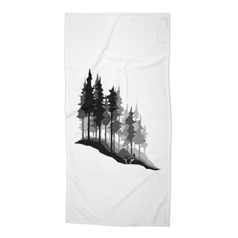 Romantic Camping Accessories Beach Towel by barmalisiRTB
