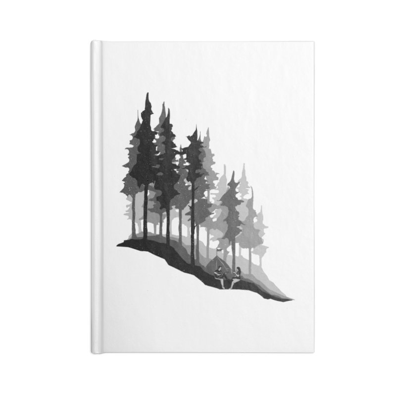 Romantic Camping Accessories Lined Journal Notebook by barmalisiRTB